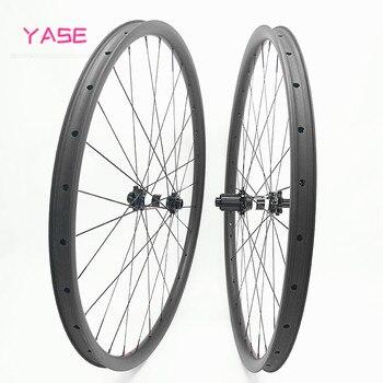 YASE 29er карбоновые колеса 36x28 мм бескамерные mtb 29 прямые тяговые DT350S колеса карбоновые boost 100x15 142x12 велосипед mtb дисковые колеса