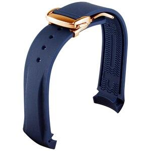 Image 5 - עמיד למים רצועת השעון גומי סיליקון רצועת עבור אומגה AT150 20mm 22mm ים מאסטר 300 שחור כחול אוקיינוס ספורט גבר 8900 + כלים