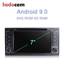Android 9.0 Octa Core 4G + 64G lecteur DVD de voiture navigation GPS RDS Radio bluetooth pour VW Touareg T5 Multivan Transporter 2004-2011(China)