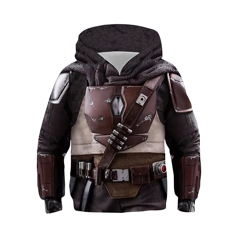 Kids Star Wars The Mandalorian BB8 Cosplay Costume Hoodies Pullover Sweatshirts  For Spring Autumn Boys Girls
