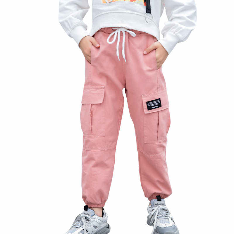 Novedad De 2020 Pantalones De Algodon De Color Liso Para Ninos Ropa Para Adolescentes Con Cintura Elastica Pantalones Cargo Para Ninas De 4 A 13t Pantalones Aliexpress