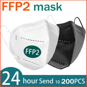 FFP2 maska na twarz KN95 maseczki do twarzy filtracja maska maska przeciwpyłowa maska ochronna maska przeciw grypie maska tanie i dobre opinie NoEnName_Null Z Chin Kontynentalnych EN 149-2001 + A1-2009