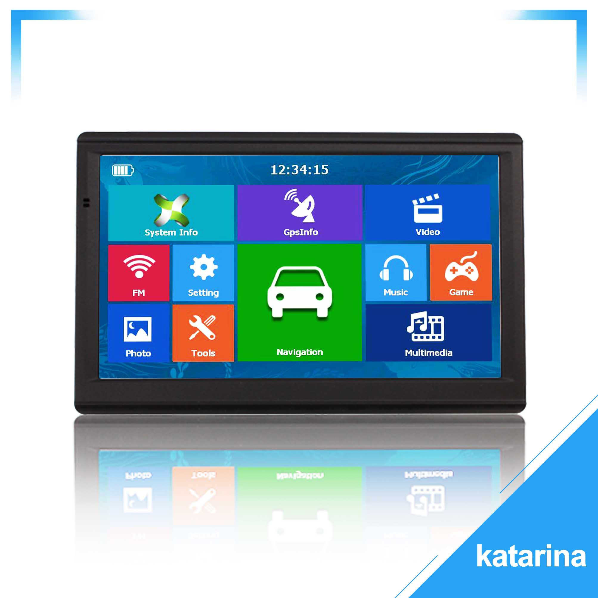 """733 katarina 7 """"HD 8G 256MB Capacitiva de Navegação GPS Do Carro FM AVIN Do Bluetooth mais recente Europa Mapa Caminhão navegadores gps"""