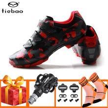 Tiebao-zapatos profesionales para ciclismo de montaña, zapatillas deportivas con autosujeción, SPD