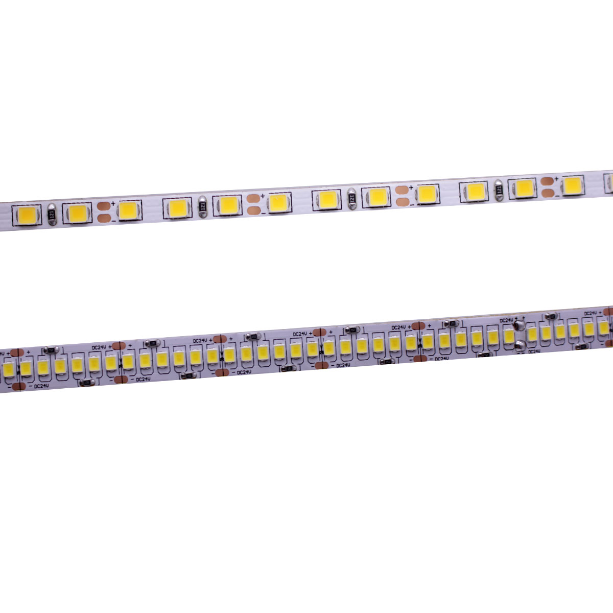 CRI 80 + 5 milímetros 10 milímetros PCB 12V 24V tira CONDUZIDA 2835 120LEDs 240 LEDs/ m diodo Flexível fita de luz 4000K 6000K 5 Neutural Branco Quente Branco M