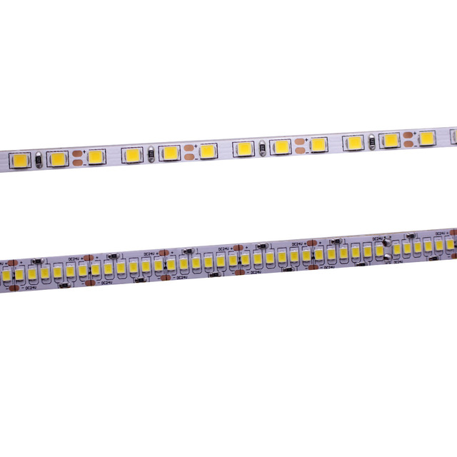 CRI 80 + 5mm 10mm PCB 12V 24V LED רצועת 2835 120 נוריות 240 נוריות/ m דיודה גמיש אור קלטת 4000K 6000K Neutural לבן חם לבן 5M