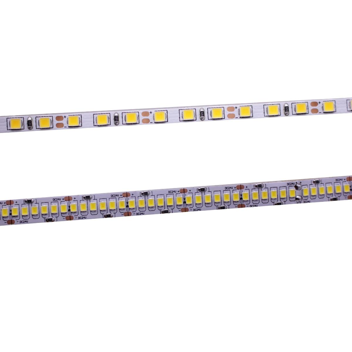 CRI 80+ 5mm 10mm PCB 12V 24V LED Strip 2835 120LEDs 240LEDs/m Diode Flexible Light Tape 4000K 6000K Neutural White Warm White 5M