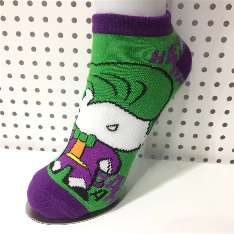 Cartoon Clown Short Socks Colorful Stockings Tight Cute Fashion Ankle Casual Socks Cosplay Couple Accessories Gift