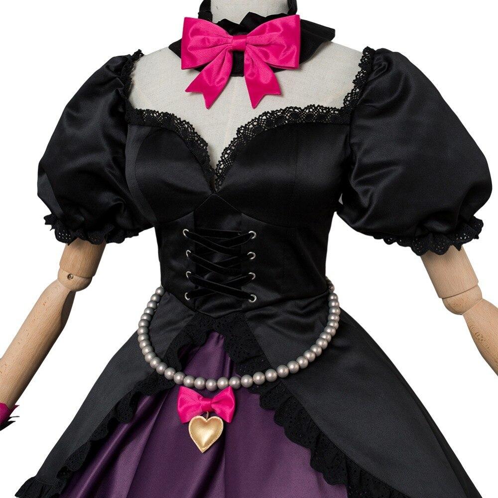 traje preto gato oficial vestido mulher cosplay