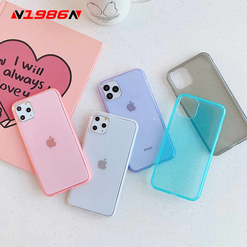N1986N Phone Case For iPhone 11 11 Pro Max X XR XS Max 6 6s 7 8 Plus Fashion Clear Mirror Anti Knock FrameSoft TPU For iPhone X