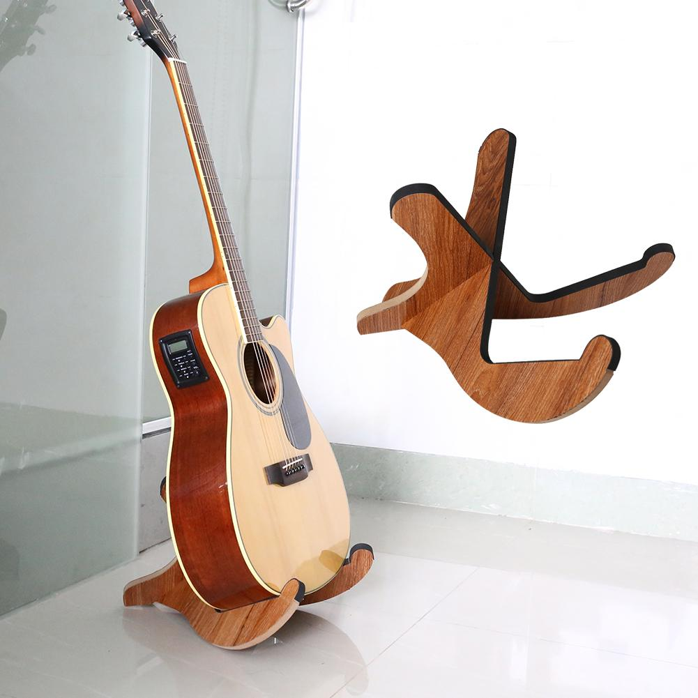 Portable Wooden Guitar Holder Stand Foldable Collapsible Display Stand Rack For Folk Classical Acoustic Guitar Accessories