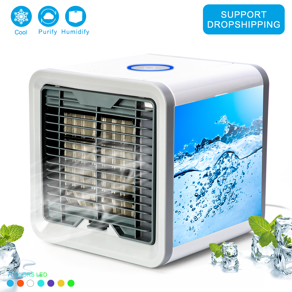USB Mini Portable Air Conditioner Easy Air Cooler Fan Desktop Space Cooler Personal Space Air Cooling Fan For Room Home Fans