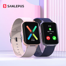 Sanlepus 2021 novo relógio inteligente das mulheres dos homens relógio de chamada bluetooth à prova dwaterproof água smartwatch mp3 player para oppo android apple xiaomi