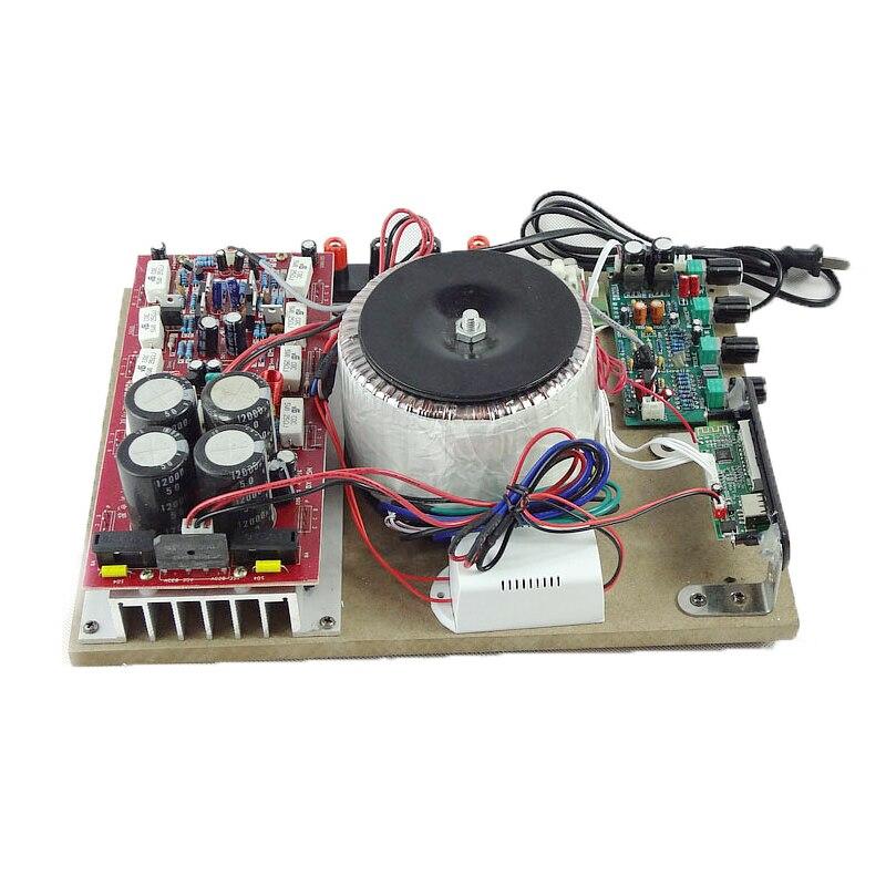KYYSLB High Power 1600W 2 Channels 5200 1943 Bluetooth Amplifier Card USB Remote Control Fever Wood Board Amplifier 4-16 Europe