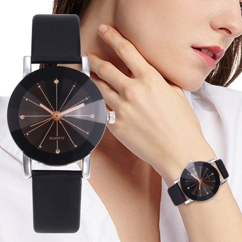 WJ-5223 Rhinestone Ladies Fashion Watch Luxury Couple Watches Men Quartz Wristwatch Classic Lover's Watches Leather Strap Reloj