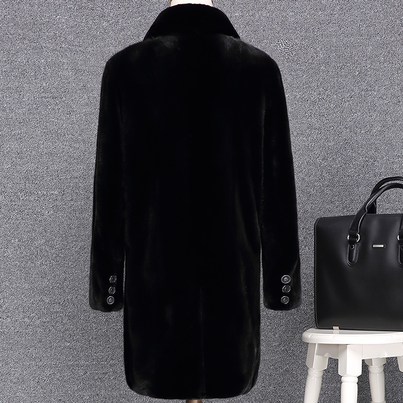2020 Real Mink Fur Coat Men Long Winter Jacket Men Natural Fur Coats Warm Parka Man Clothes Luxury Jacket KJ2722