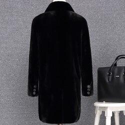 Abrigo de piel auténtica de visón 2020 Chaqueta larga de invierno para hombre Abrigos de piel Natural Parka cálida ropa para hombre chaqueta de lujo dj2722