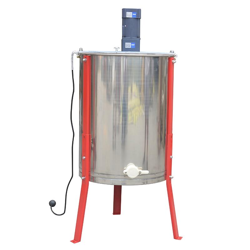 Электрический экстрактор меда 4 рамы из нержавеющей стали для пчеловодства оборудование пчела инструмент для апекуляции профессиональный