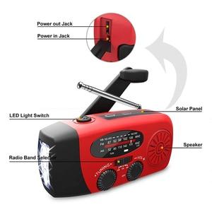 Image 4 - Multifunctionele Hand Radio Solar Crank Dynamo Powered Am/Fm/Noaa Weather Radio Gebruik Emergency Led Zaklamp En Power bank