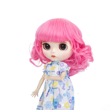 Blyth doll wigs high temperature fiber Air bangs Short red hair suitable for accessories 25cm 9-10inch