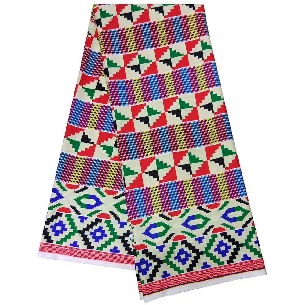 African Wax Geometric Prints Fabric High Quality 5yards African Fabric For Dress