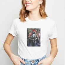 Divertido Darth Vader y Stormtroopers Vintage camiseta de la foto de la boda de las mujeres Star Wars espacio ciencia TV, series, películas camisetas femeninas