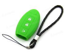 Capa de silicone verde apto para infiniti remoto chave inteligente 3 botões 3bt infi3gr kr55wk49622 cwtwbu619 twb1u742 285e3-cl01d