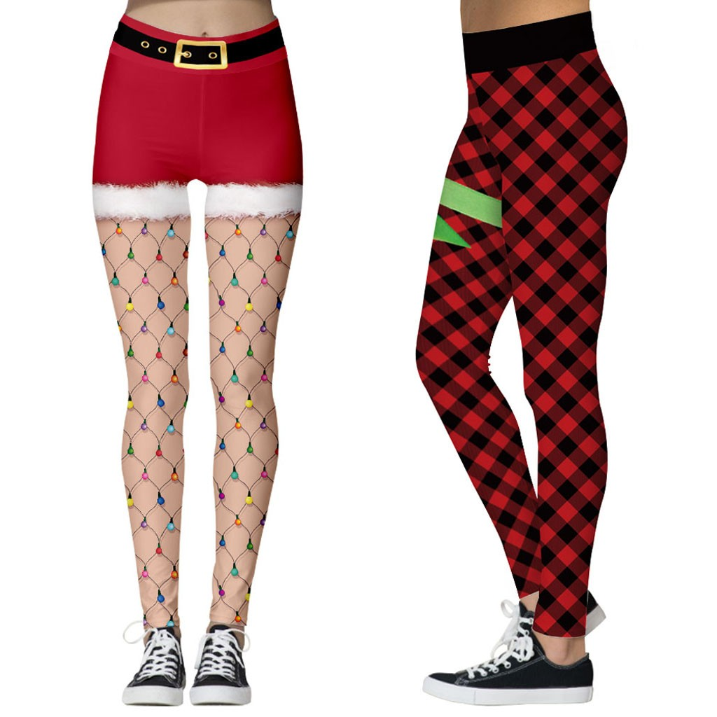 Christmas Sports Pants Leggings Women The Nightmare Before Christmas Plus Size Pants Digital Print Fitness Leggins 18colors
