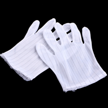 1 Pair Anti-static Anti-skid Glove Striped PC Computer Working Repair Safe Gloves цена 2017