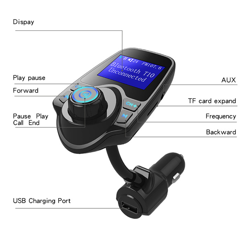 Car Kit Wireless Bluetooth FM Transmitter USB Charger MP3 Player Radio Adapter ING-SHIPPING