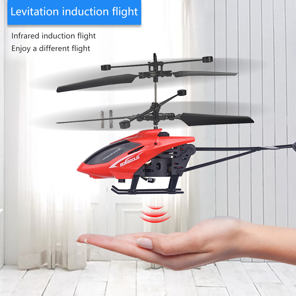 Automatic Start Mini RC Infraed Induction Helicopter Aircraft Flashing Light Toys Christmas Gift Exquisite Gift Box Packaging