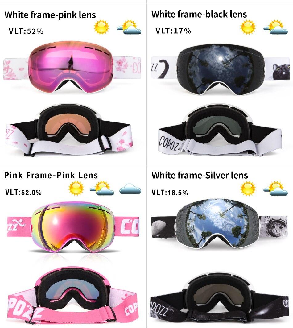 Ha4a0148555084b358145fa62d4e15ce6K - Ski Goggles Men Women Snowboard Goggles Glasses for Skiing UV400 Protection Skiing Snow Glasses Anti-Fog Ski Mask