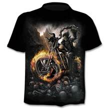 2020 New Motorcycle Skull 3dT-Shirt Men Women Fashion Hip Hop T-Shirt Streetwear Pullover T Shirt Camisetas Hombre Tops Tees