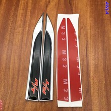 цена на 2pcs Fashion Car fender Emblem Sticker Badge car styling For Dodge R/T RT Logo Challenger Charger Ram Caliber Auto Accessories