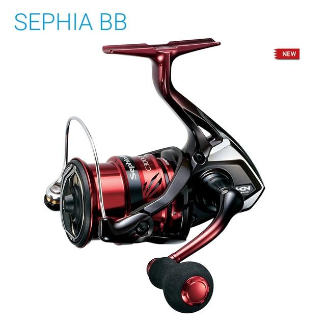 2018 원래 시마노 세피아 BB C3000S C3000SDH C3000SDHG 5 + 1BB X 선 시스템 바닷물 빛 스피닝 낚시 릴 휠