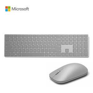 Microsoft surface sem fio teclado mouse combos metal fino bluetooth 4.0 inglês teclado pc computador