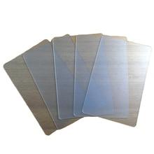 Cartão de visita 85.5x54 Milímetros Matte Plástico Pvc Cartão Em Branco Transparente Sem Impressão