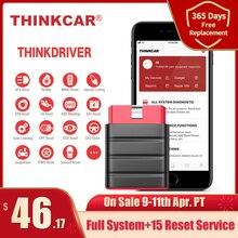 Thinkcar Thinkdriver بلوتوث OBD2 الماسح الضوئي السيارات OBD 2 IOS سيارة أداة تشخيص رمز القارئ OBD أندرويد الماسح pk thinkdia