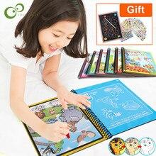 Sihirli su çizim kitabı boyama kitabı Doodle sihirli kalem boyama çizim kurulu çocuk oyuncakları doğum günü noel yeni yıl hediye GYH