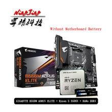 AMD Ryzen 5 R5 3500X CPU + GA B550M AORUS ELITE Motherboard + Pumeitou DDR4 8G 16G 2666MHz RAMs Anzug Buchse AM4 Ohne kühler