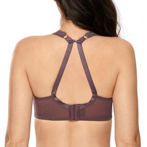 Image 3 - Womens Full Figure Lightly Padded Underwire Lace Balconette Bra Plus Size 34 44 B C DD E