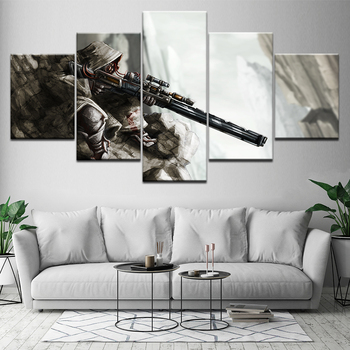 Francotirador héroes y generales 5 piezas lienzo de papel tapiz póster moderno arte Modular pintura para la decoración del hogar de la sala de estar