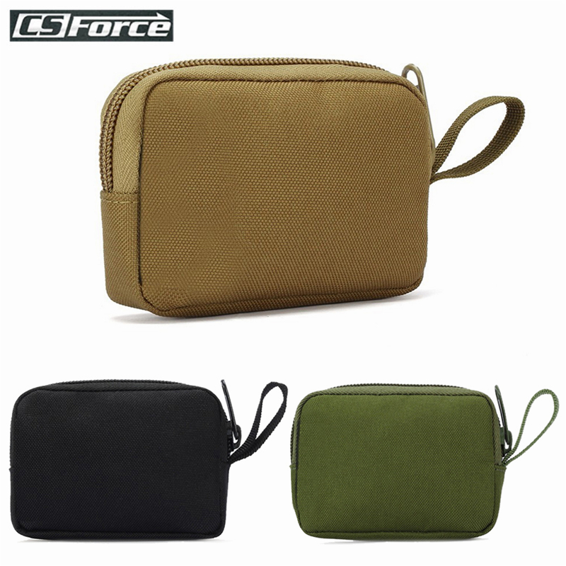 Tactical Mini Wallet Card Bag Small Pocket Key Pouch Money Bag Men Waterproof Portable EDC Pouch Hunting Outdoor Waist Bag Nylon