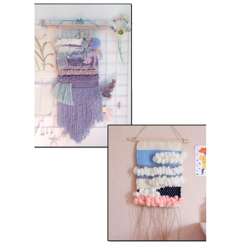 Kids Square Knitting Loom Board Kit Handheld Craft Knitter Weaving Tool Knitting Machine DIY Woven Set For Children Gift Toy