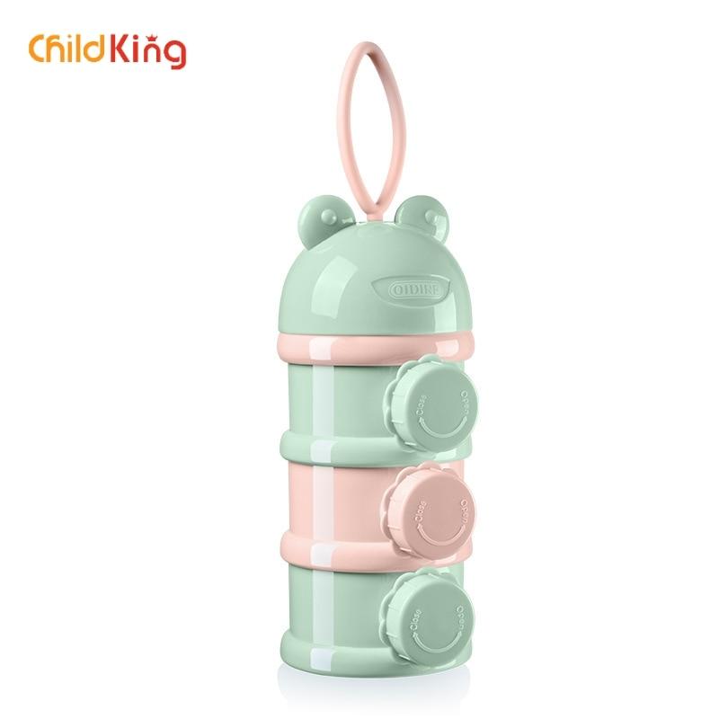 ChildKing Large Capacity Babies Go Out To Install Layered Milk Powder Sealed Portable Baby Baby Bottle  Biberon Bottle  Feeding