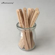 Sticks Wooden Cake-Popsicle Ice-Cream Bakery Disposable Home Custom Garden 50pcs Engraved
