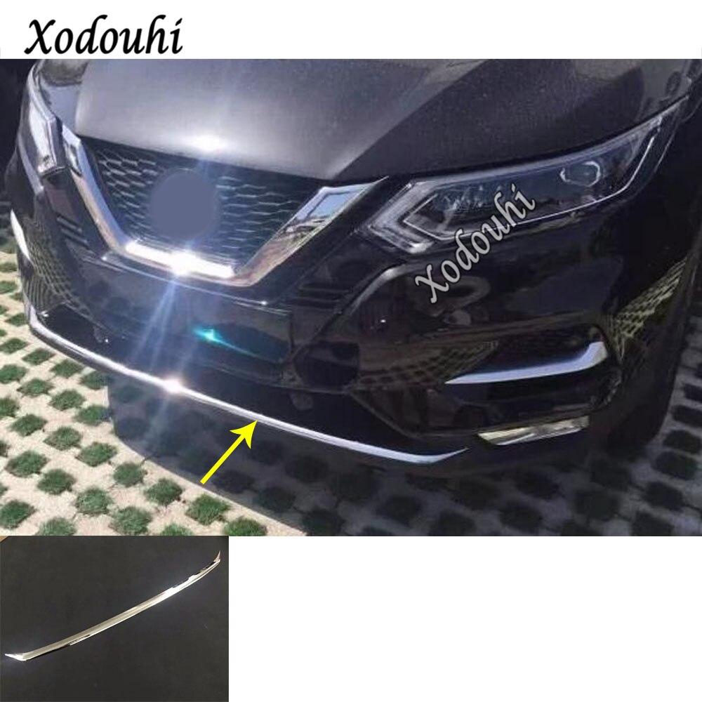 Pour Nissan Qashqai 2019 2020 carrosserie ABS Chrome plaque d'immatriculation garniture course Grille Grille capot panneau cadre pare-chocs 1 pièces