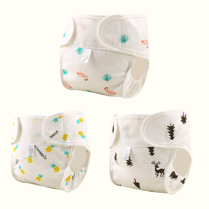 Herbabe 2pcs Baby Cloth Diapers Cover For Newborn Kids Washable Reusable Toilet Training Pants Cotton Nappy Cloth Pocket Diapers