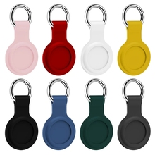 Airtag case For Apple Airtags Liquid Silicone Protective Sleeve For Apple Locator Tracker Anti-lost Device Keychain Protective