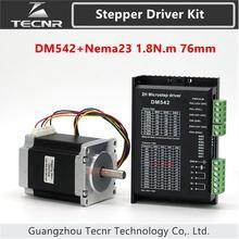 TECNR DM542 מנוע צעד נהג ערכת עם Nema23 מנוע 76mm 3A 1.8N.m